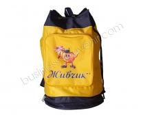 Рюкзак со шнуровкой и двумя внешними секциями | Пошив на заказ | Нанесение логотипа