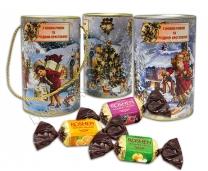 Тубус с конфетами «Подарок зимы»