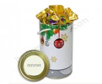 Тубус с конфетами | Разработка дизайна упаковки в корпоративном стиле